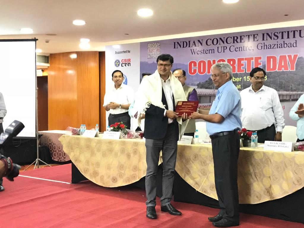 Award From Indian Concrete Institute UP West Chapter
