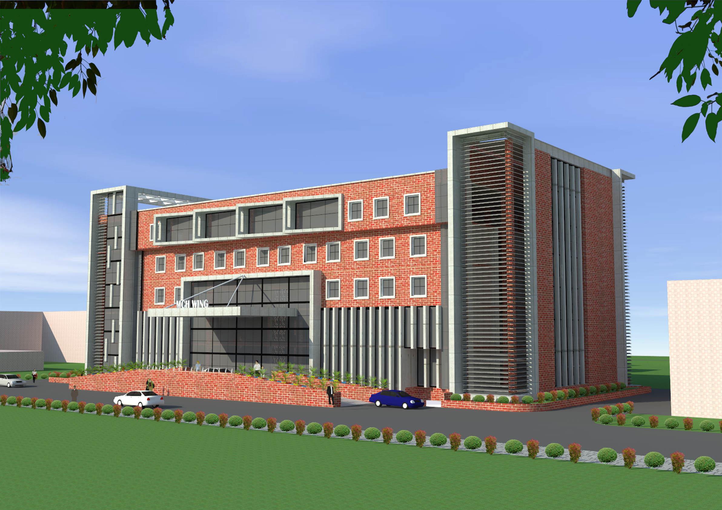 100 Bedded Mother & Child Hospital Jawahar Lal Nehru Medical College AMU Aligarh